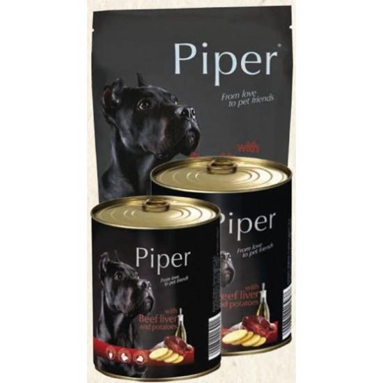 Hrana umeda Piper Adult, Ficat de Vita si Cartofi, 800 g
