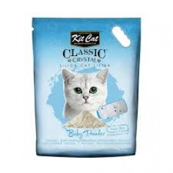 Asternut igienic  KIT CAT CLASSIC CRYSTAL BABY POWDER- 5L