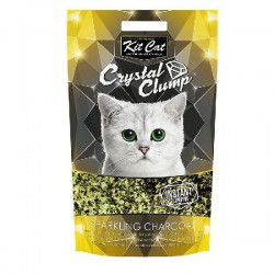 Asternut igienic KIT CAT CRYSTAL CLUMP Sparkling Charcoal -4L