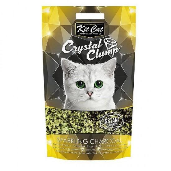 KIT CAT CRYSTAL CLUMP Sparkling Charcoal -4L