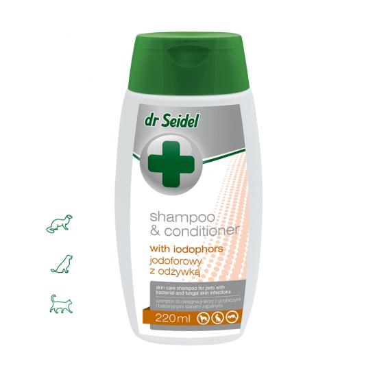 Sampon si balsam IODOFOR dermatologic cu clorhexidina 4%, Dr. Seidel, 100 ml
