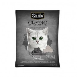 Asternut igienic  KIT CAT CLASSIC CRYSTAL CHARCOAL- 5L