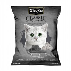 Asternut igienic KIT CAT CLASSIC CLUMP CHARCOAL- 10L