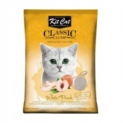 Asternut igienic  KIT CAT CLASSIC CLUMP WHITE PEACH - 10L