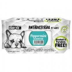 Servetele umede Absorb Plus Antibacterial, PEPPERMINT, 80 buc