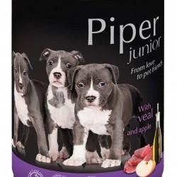 Hrana umeda Piper Junior, Vitel si Mere, 400 g
