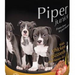 Hrana umeda Piper Junior, Pipote de Pui si Orez brun, 400 g
