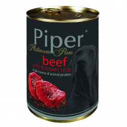 Hrana umeda Piper Platinum Pure, Vita si Orez brun 400 g