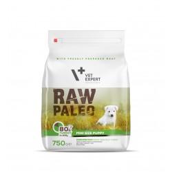 Hrana uscata, RAW PALEO, puppy, rase mici, 750g