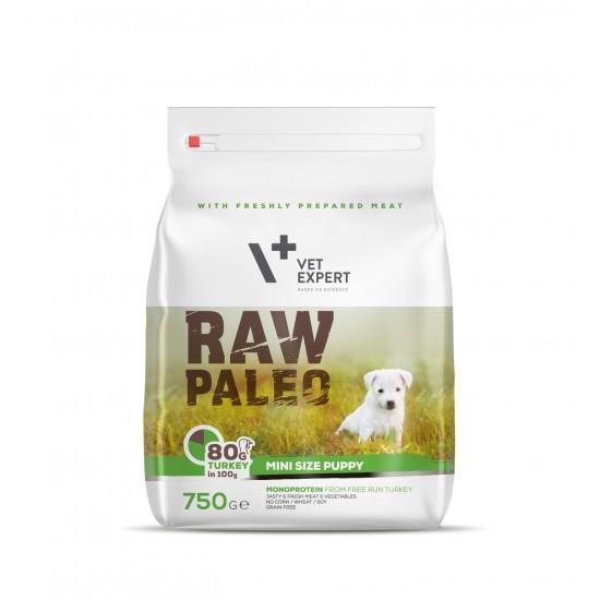RAW PALEO, puppy, rase mici, 750g