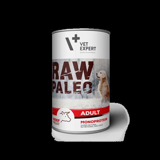 Hrana umeda pentru caini, RAW PALEO Adult, vita,conserva monoproteica,  800 g