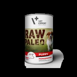 Hrana umeda pentru caini RAW PALEO Puppy, conserva monoproteica, carne de vita, 400 g