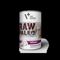 Hrana umeda pentru caini, RAW PALEO, conserva monoproteica, adult, carne de miel, 400 g