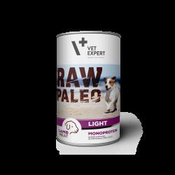 Hrana umeda pentru caini, RAW PALEO Light, conserva monoproteica, miel, 400 g