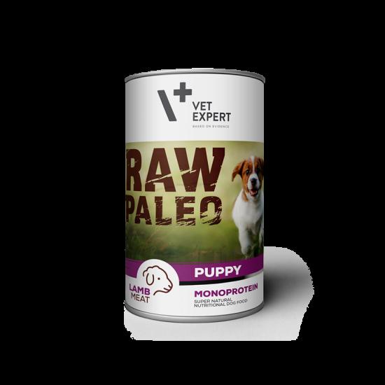 Hrana umeda pentru caini, RAW PALEO Puppy, carne de miel 800 g