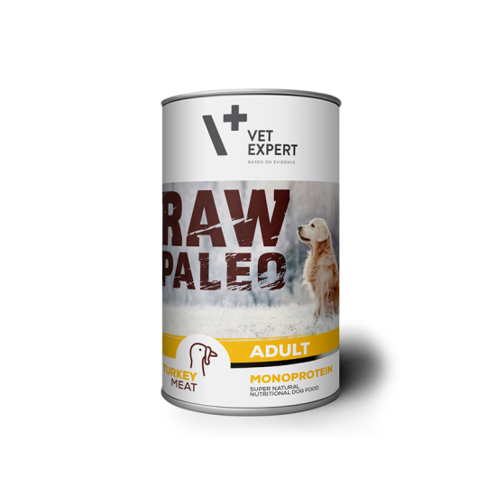 RAW PALEO, adult, curcan, 400 g