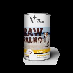 Hrana umeda pentru caini, RAW PALEO Light, conserva monoproteica, curcan, 400 g