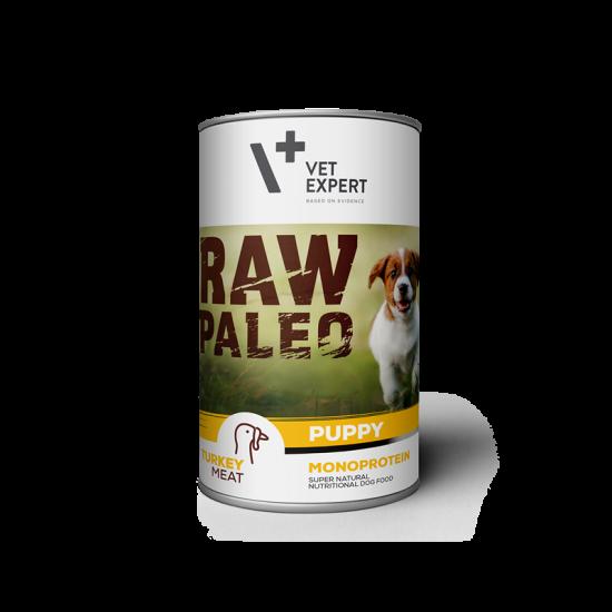 RAW PALEO Puppy, curcan, 400 g