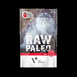 Hrana umeda pentru pisici, RAW PALEO KITTEN, carne de vita,100 g