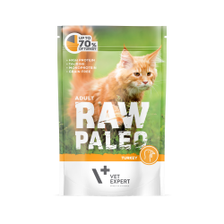 RAW PALEO CAT, adult, curcan, 100 g