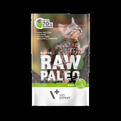 Hrana umeda pentru pisici, RAW PALEO KITTEN, carne de vanat, 100 g