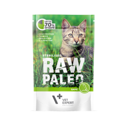 Hrana umeda pentru pisici, RAW PALEO CAT, STERILISED, carne de vanat, 100 g