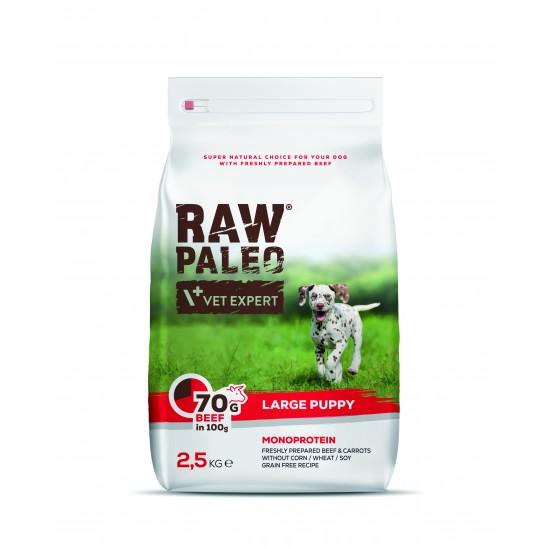 Hrana uscata, RAW PALEO VITA, puppy, rase mari, 2.5 kg