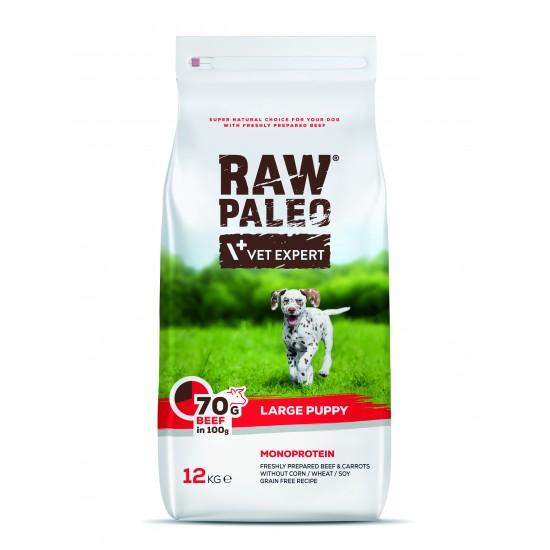 Hrana uscata, RAW PALEO VITA, puppy, rase mari, 12 kg