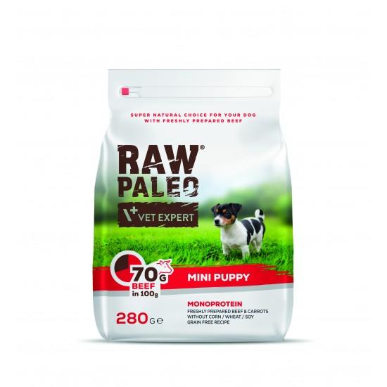 Hrana uscata, RAW PALEO VITA, puppy, rase mici, 280g