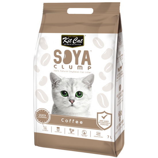 Asternut igienic pentru pisici KIT CAT SOYA CLUMP - Coffee- 7L