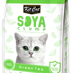Asternut igienic pentru pisici KIT CAT SOYA CLUMP - Green Tea- 7L