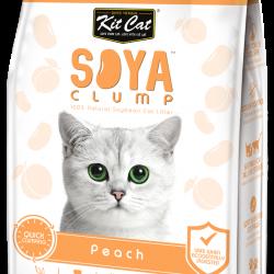 Asternut igienic pentru pisici KIT CAT SOYA CLUMP - Peach- 7L