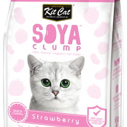 Asternut igienic pentru pisici KIT CAT SOYA CLUMP - Strawberry- 7L