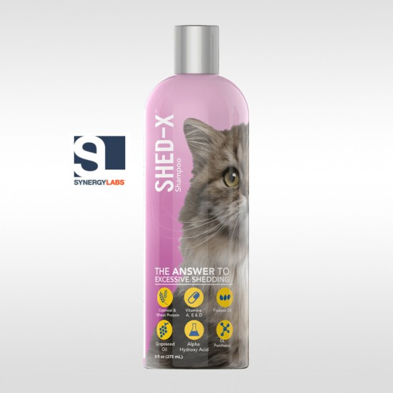 Sampon anti naparlire pentru pisici SHED-X, Synergy Labs, 237 ml