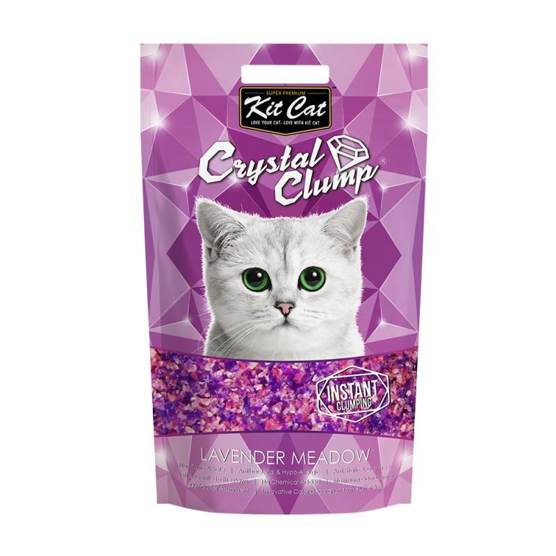 Asternut igienic KIT CAT CRYSTAL CLUMP Lavender Meadow - 4L imagine
