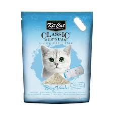 Asternut igienic KIT CAT CLASSIC CRYSTAL BABY POWDER- 5L imagine