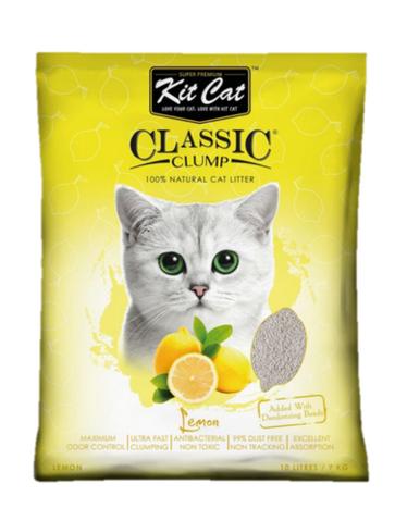 Asternut igienic KIT CAT CLASSIC CLUMP LEMON- 10L imagine