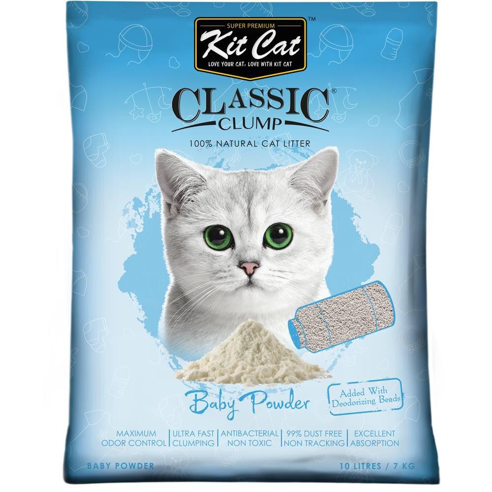Asternut igienic KIT CAT CLASSIC CLUMP BABY POWDER- 10L imagine