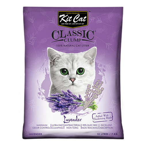 Asternut igienic KIT CAT CLASSIC CLUMP LAVENDER- 10L imagine