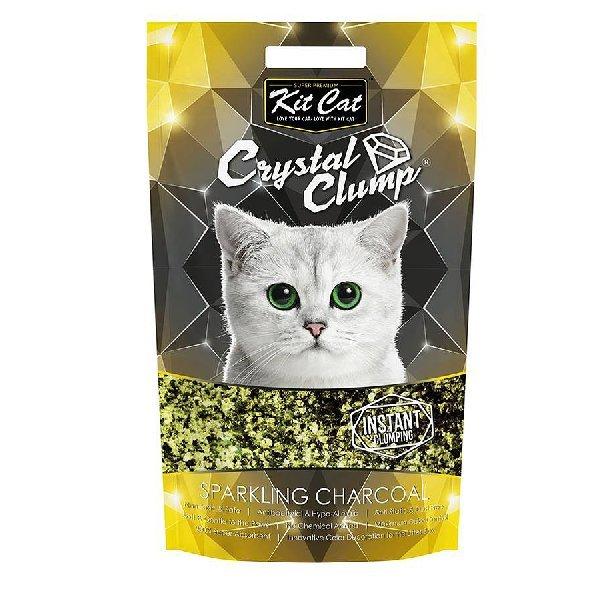 Asternut igienic KIT CAT CRYSTAL CLUMP Sparkling Charcoal -4L 4pet.ro