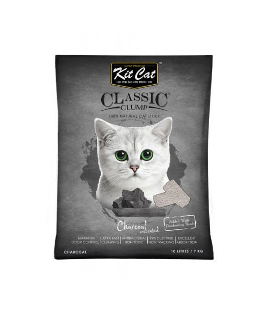 Asternut igienic KIT CAT CLASSIC CRYSTAL CHARCOAL- 5L imagine