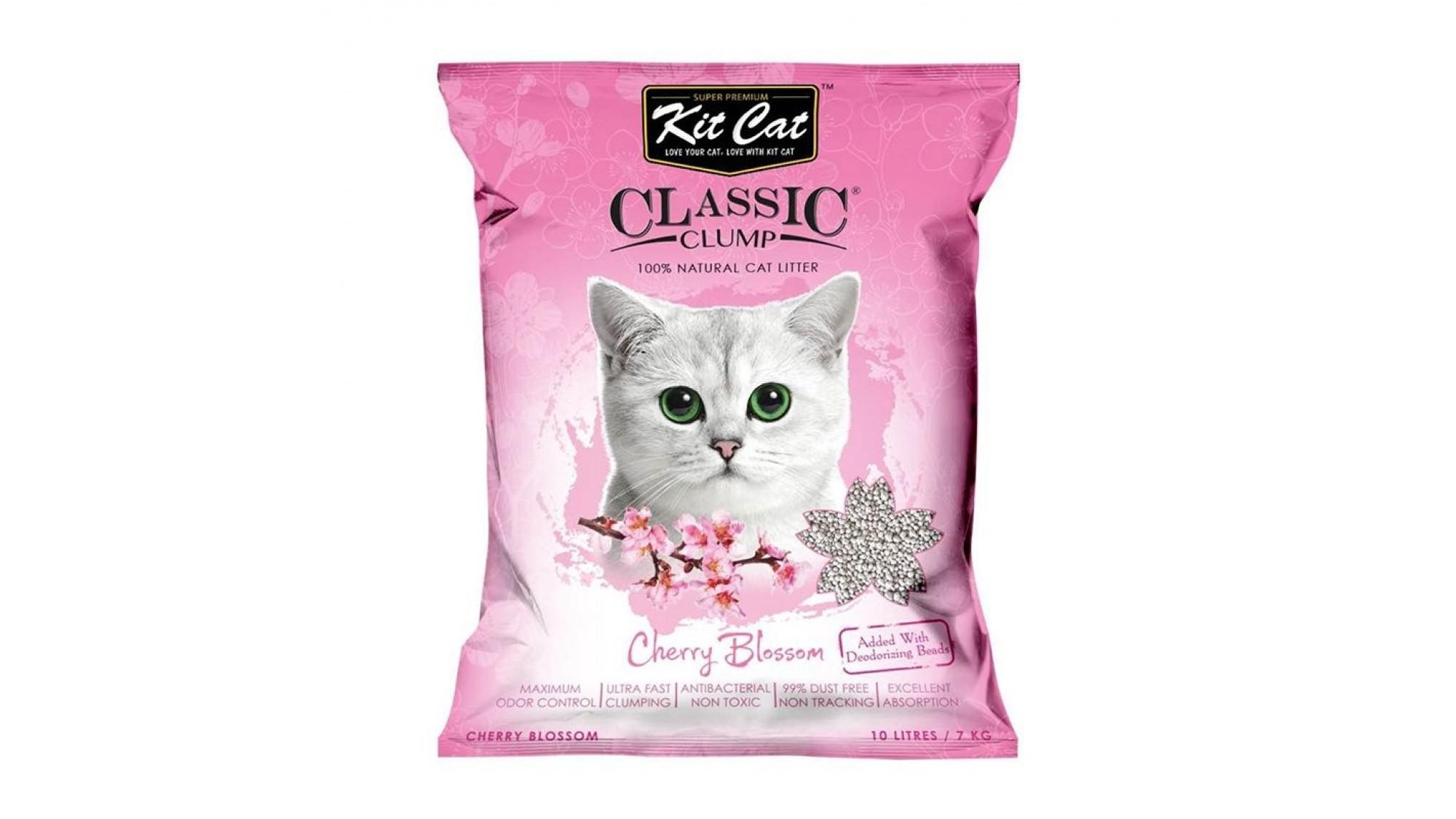 Asternut igienic KIT CAT CLASSIC CLUMP CHERRY BLOSSOM - 10L imagine