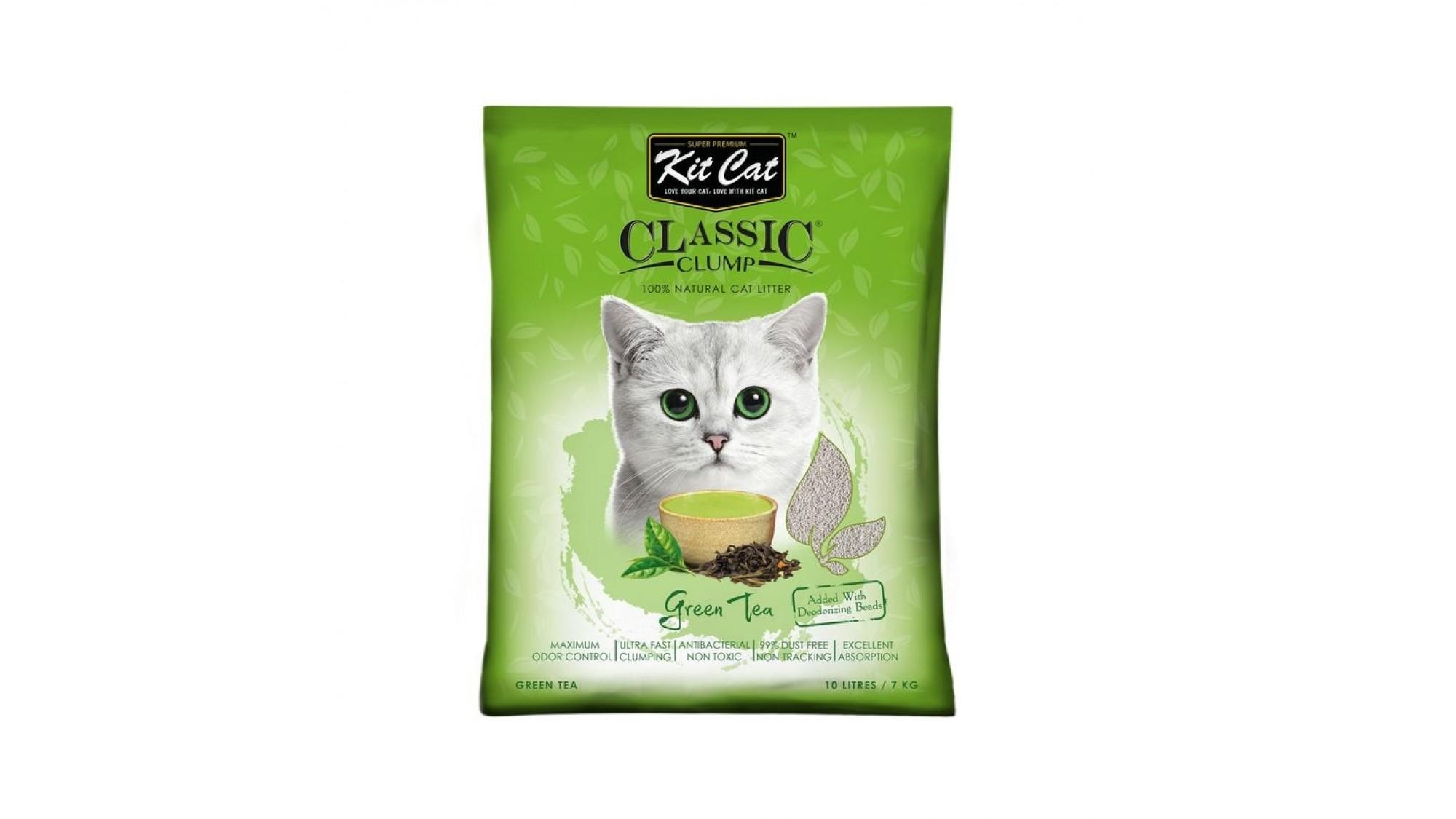 Asternut igienic KIT CAT CLASSIC CLUMP GREEN TEA- 10L imagine