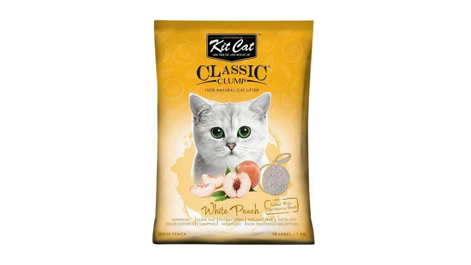 Asternut igienic KIT CAT CLASSIC CLUMP WHITE PEACH - 10L imagine