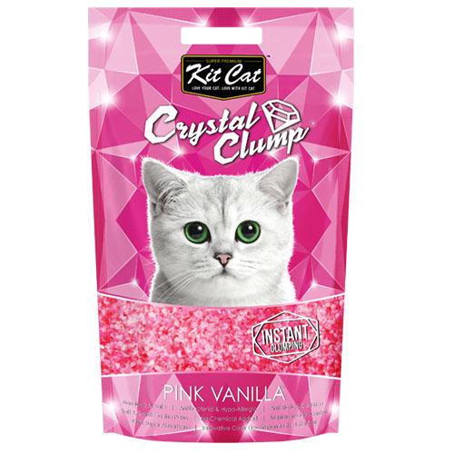 Asternut igienic KIT CAT CRYSTAL CLUMP Pink Vanilla- 4L 4pet.ro