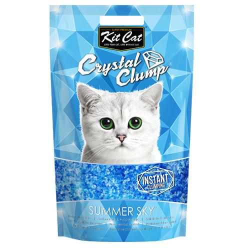 Asternut igienic KIT CAT CRYSTAL CLUMP Summer Sky -4L 4pet.ro