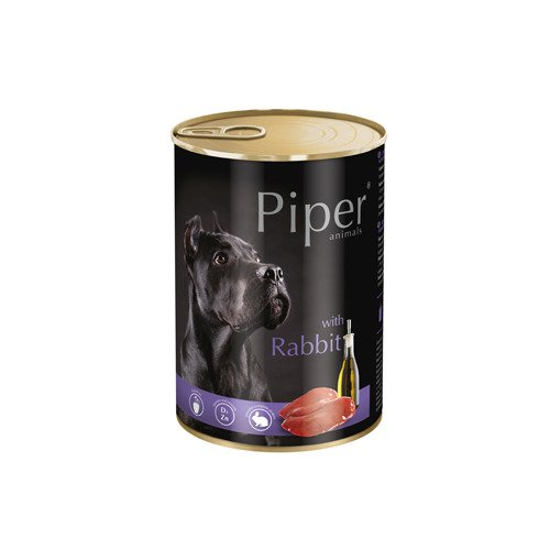 Hrana umeda Piper Animals, iepure, conserva, 400 g imagine